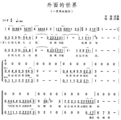 外面的世界-莫文蔚&陈奕迅(MP3歌词/LRC歌词) lrc歌词下载 第2张