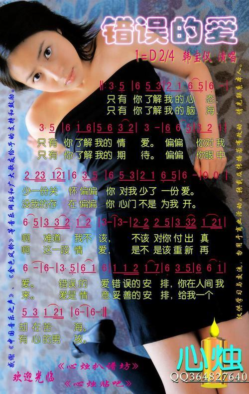 错误的爱-韩宝仪(MP3歌词/LRC歌词) lrc歌词下载 第1张