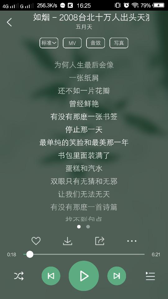 如烟-五月天(MP3歌词/LRC歌词) lrc歌词下载 第2张