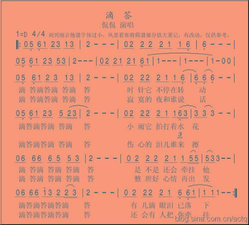 滴答-侃侃(MP3歌词/LRC歌词) lrc歌词下载 第3张