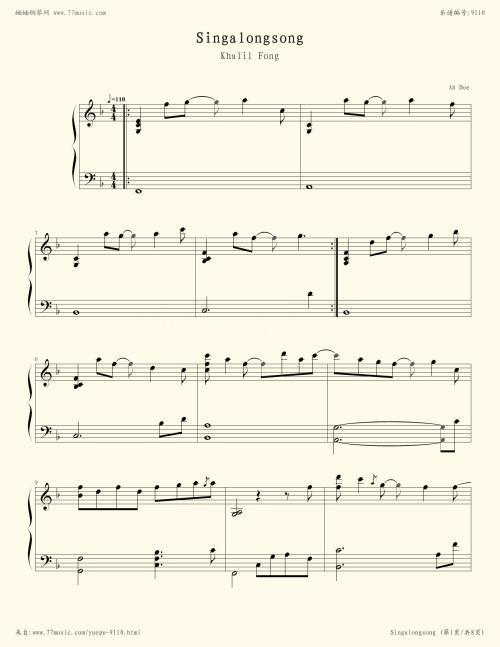 Singalong song-方大同(MP3歌词/LRC歌词) lrc歌词下载 第1张