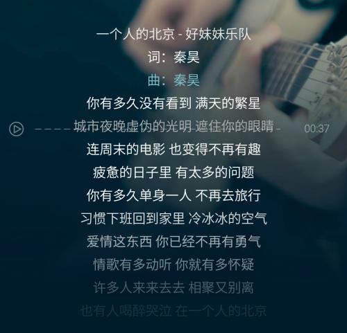 我只有独自悲哀-胡力(MP3歌词/LRC歌词) lrc歌词下载 第1张